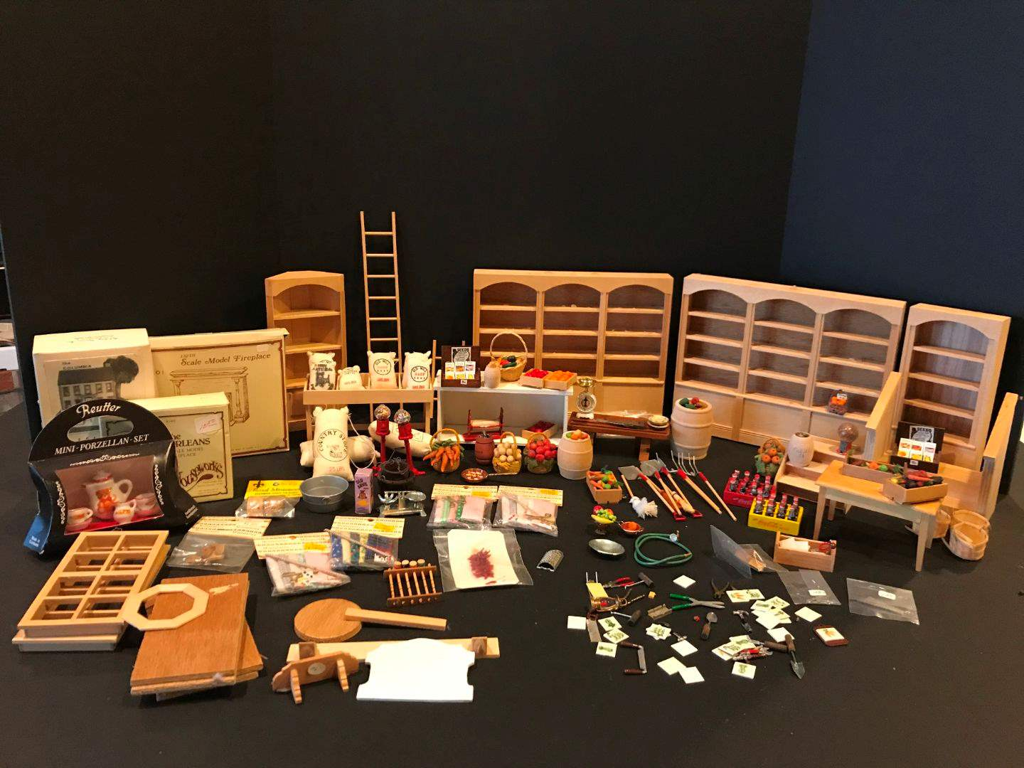 Lot # 154 - Nice Selection of Wood Doll Furniture & Accessories.. (main image)