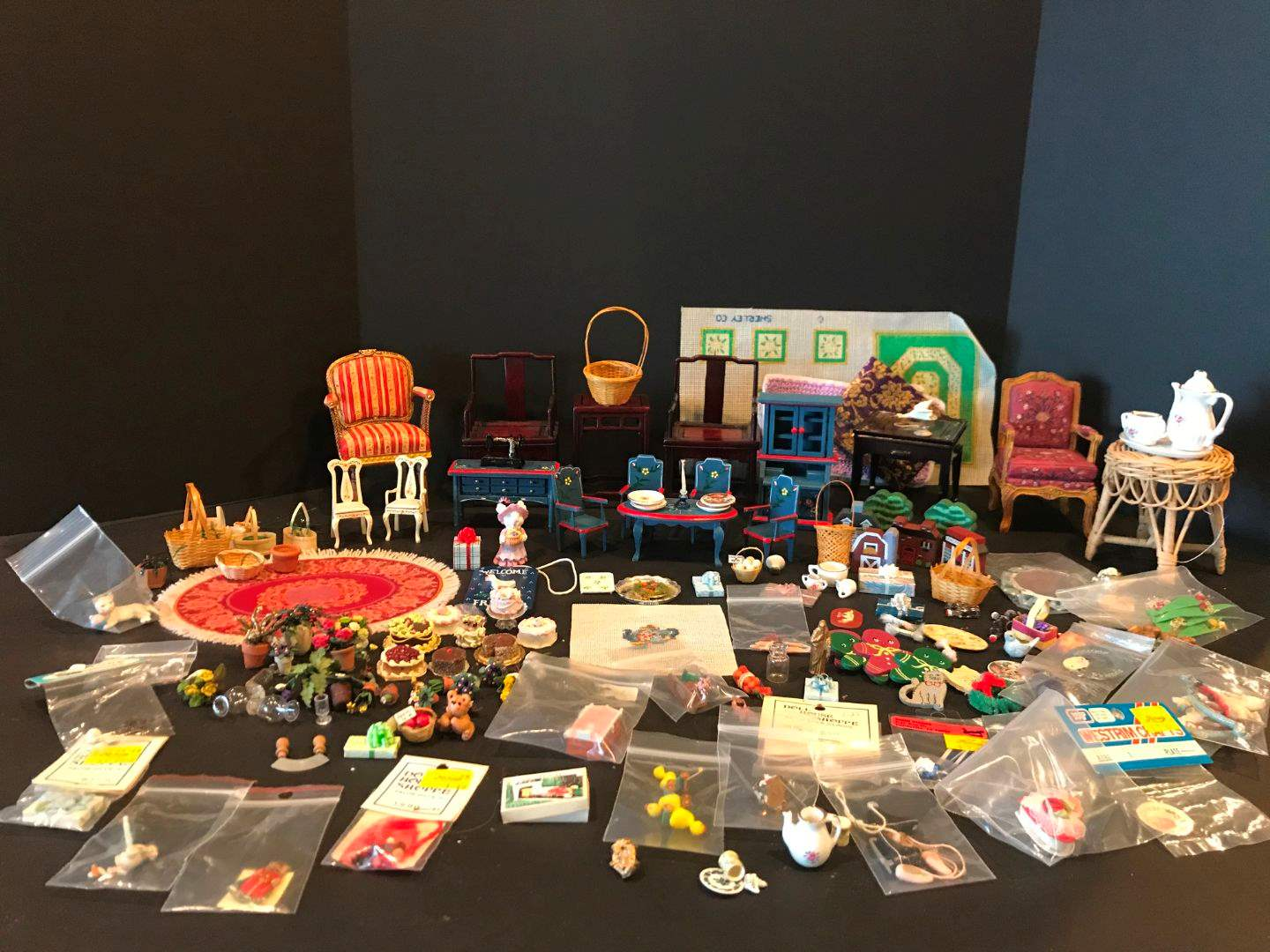 Lot # 160 - Various Sizes of Doll Furniture & Accessories  (main image)