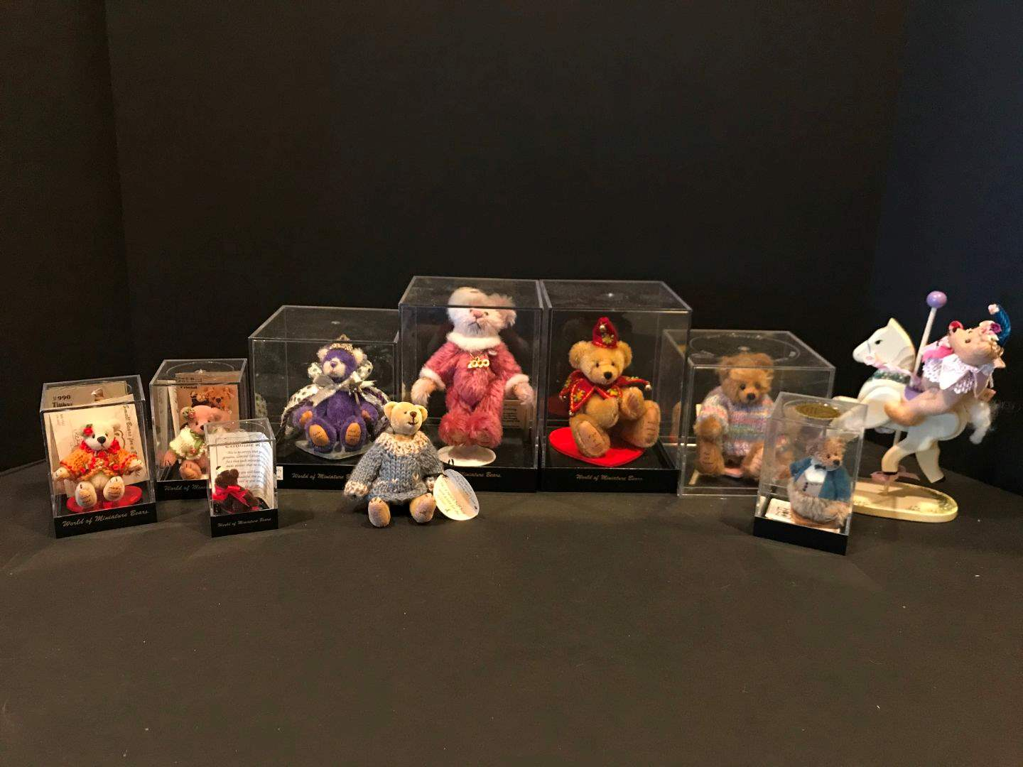 """Lot # 172 - """"World of Miniature Bears"""" by Becky Wheeler & Other Misc. Bears (main image)"""