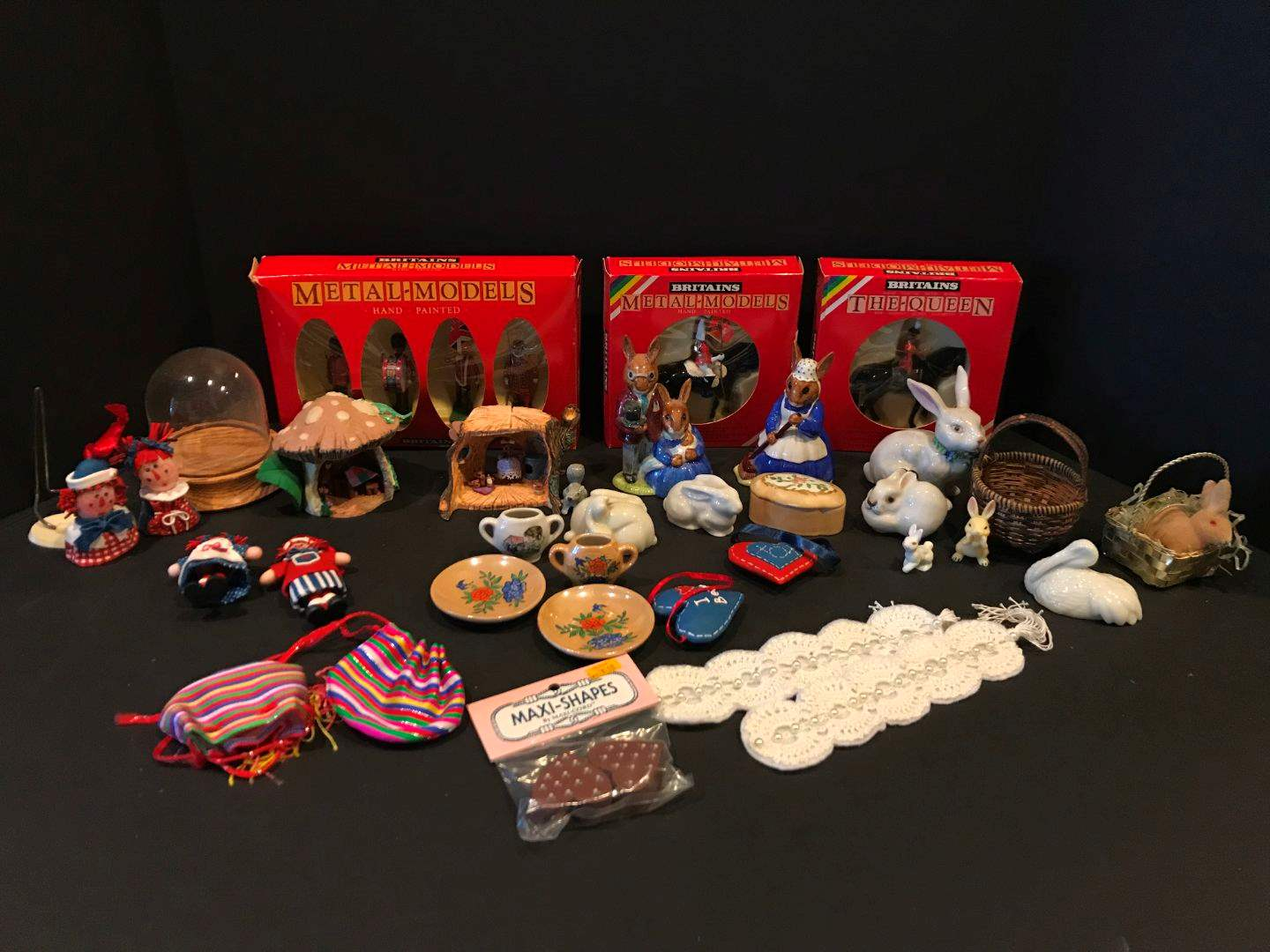 "Lot # 173 - Ceramic Rabbit Figurines, ""Britains Metal-Models"" Figurines & More.. (main image)"