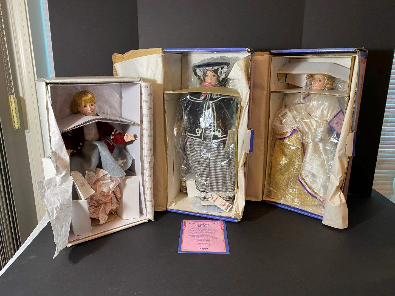 Lot # 240 - Two Gorham Porcelain Dolls, One Princeton Gallery Porcelain Doll (main image)