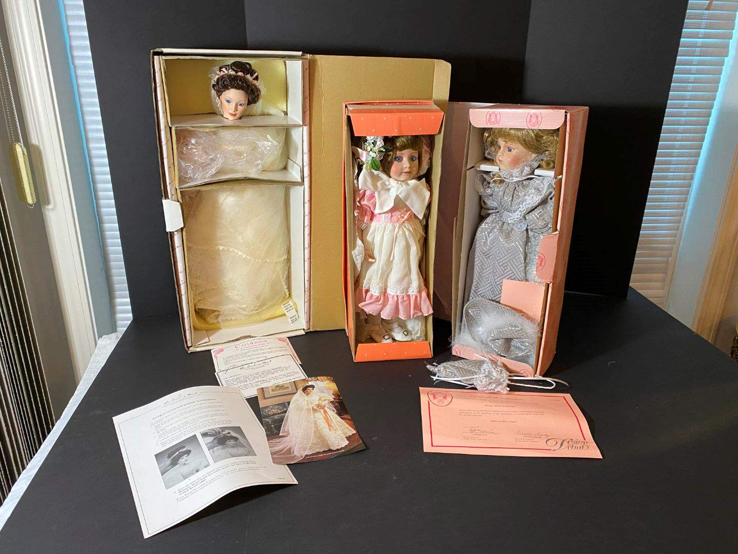 """Lot # 246 - Danbury Mint Doll """"Catherine"""", Bradley's """"Robin"""", & a Desing Debut Collection Doll  (main image)"""