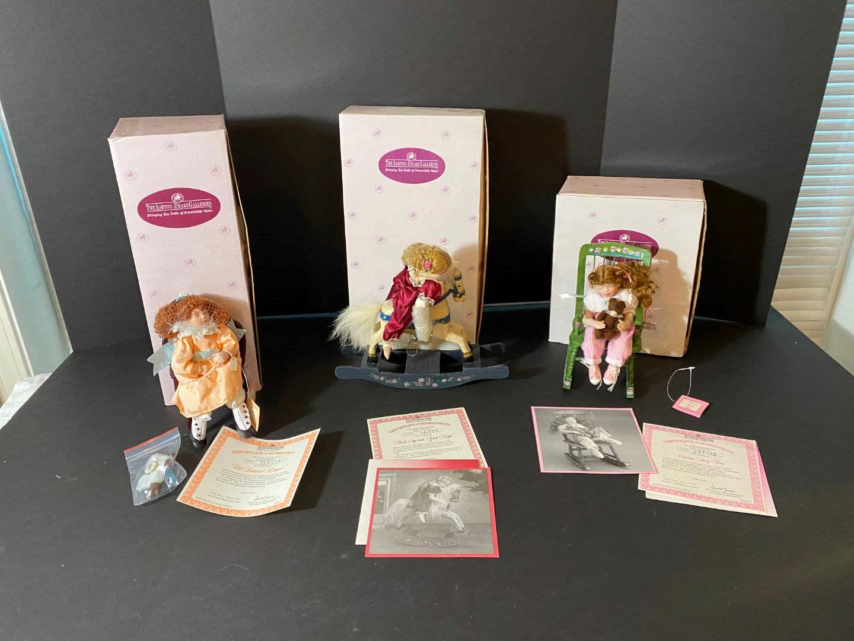 Lot # 247 - Three Ashton-Drake Galleries Porcelain Dolls  (main image)