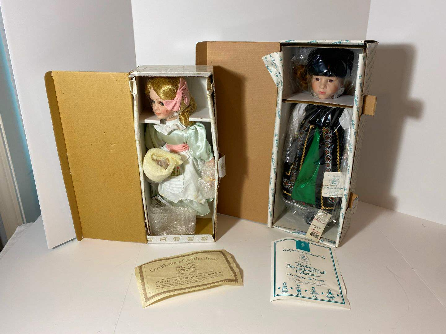 """Lot # 255 - Heritage Signature Collection Porcelain Doll """"Flora"""", The Heirloom International Doll Collection """"Nadia""""  (main image)"""
