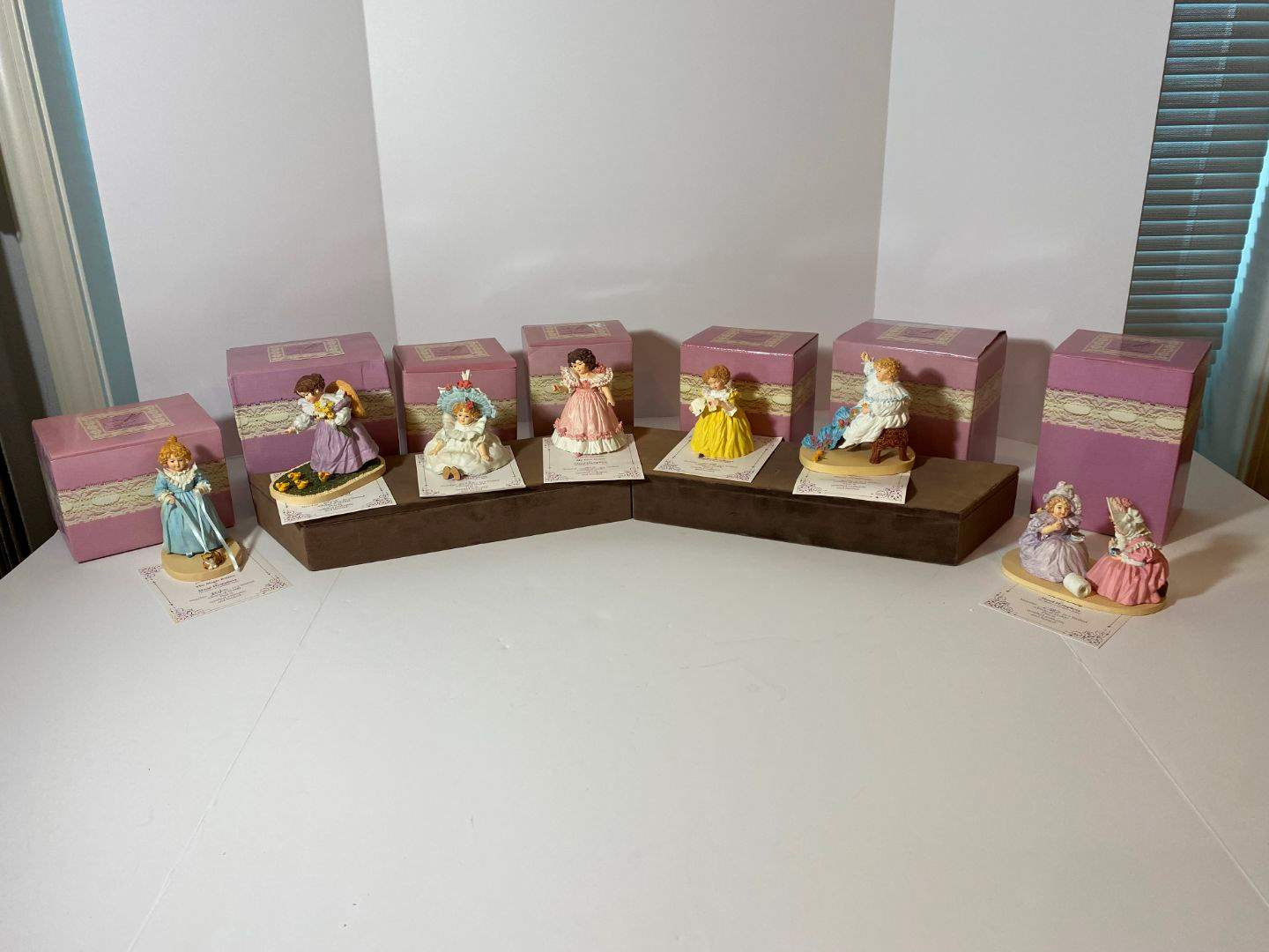 Lot # 258 - Seven Maud Humphrey Bogart Figurines w/Boxes - (See Pictures) (main image)