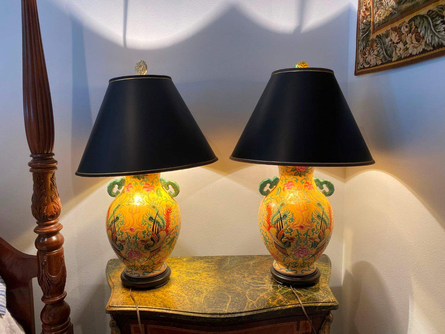 Lot # 274 - Two Asian Style Ceramic Lamps (main image)