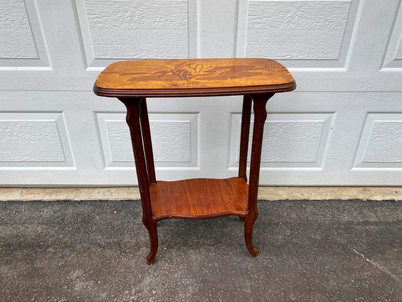Lot # 308 - Vintage Wood Side Table Signed Galle (main image)