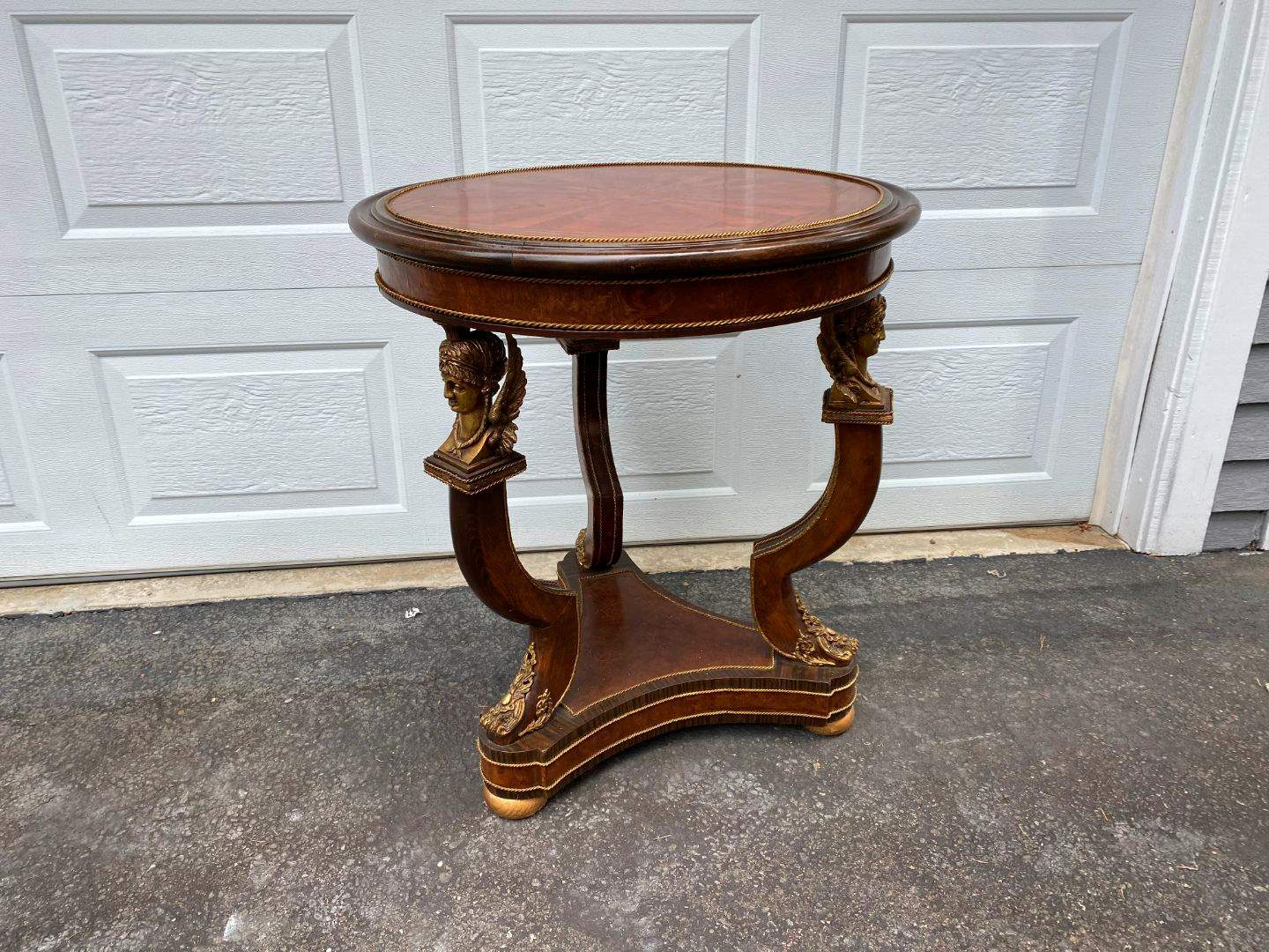 Lot # 311 - Vintage French Louis XV Style Table w/Brass Accents (main image)
