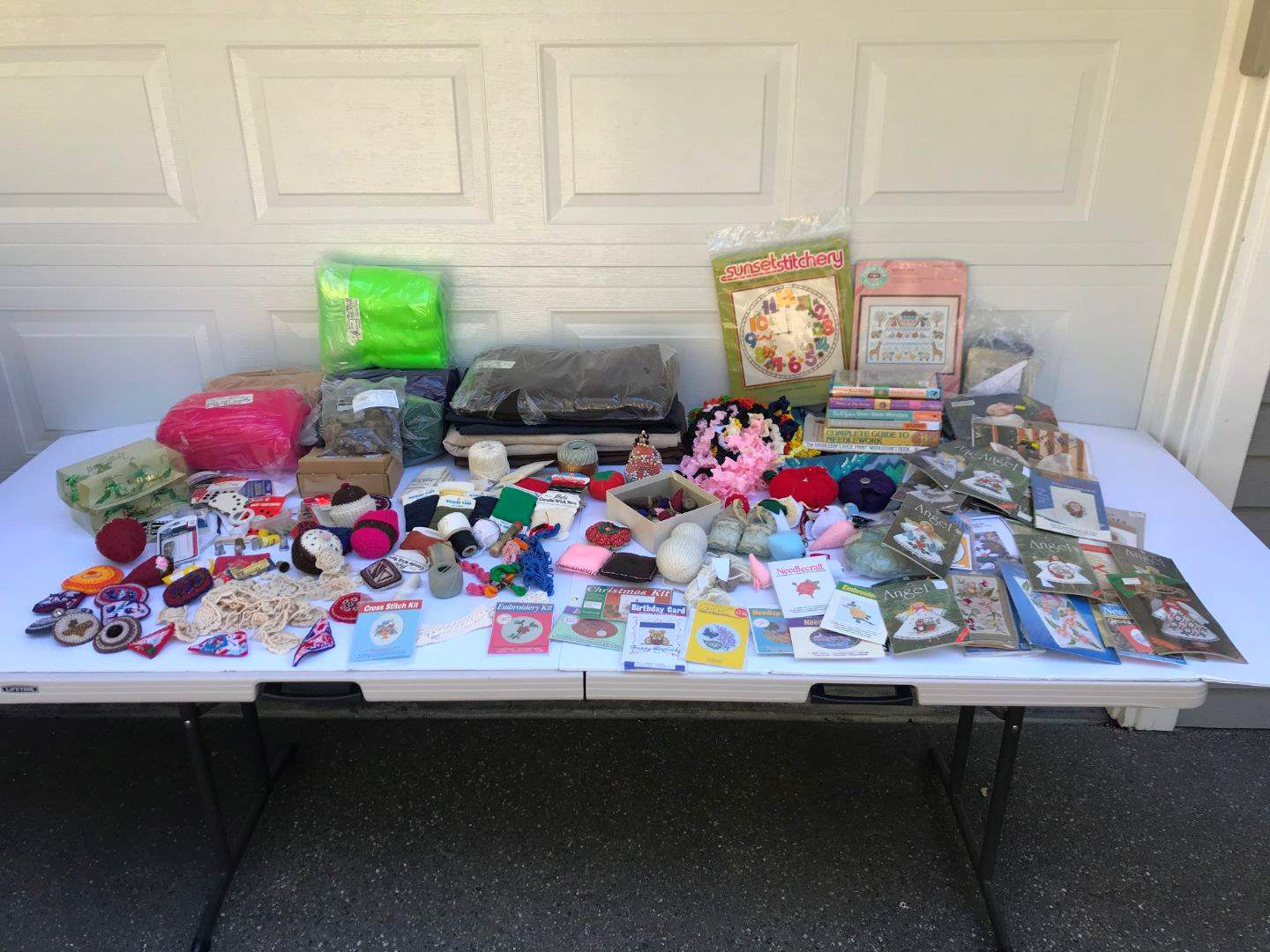 Lot # 298 - Crafting Items: Felt in Various Colors, Wicking Yarn, Sewing Implements, Pin Cushions, Yarn & Much More.. (main image)