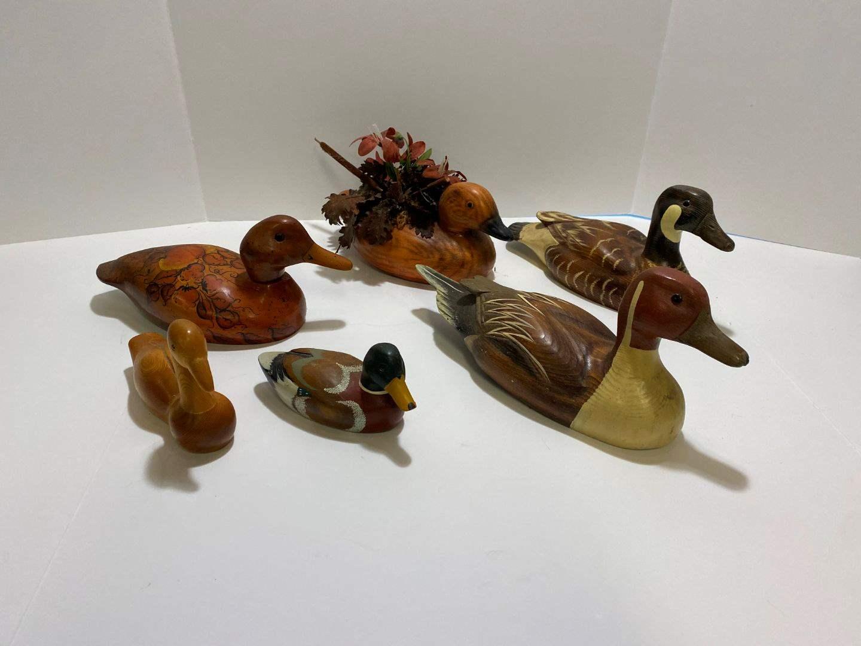 Lot # 370 - Vintage Wood Ducks (main image)