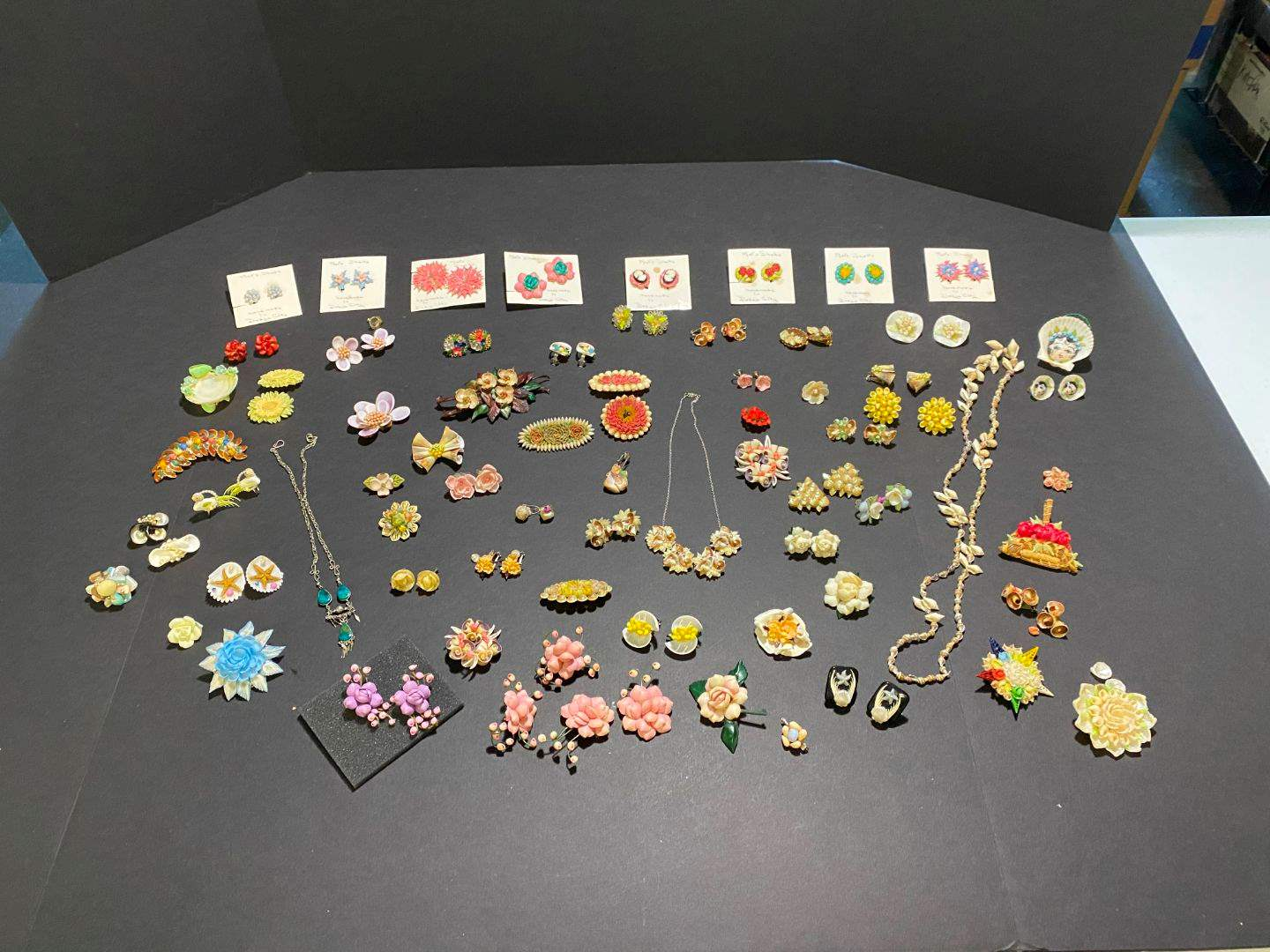 Lot # 373 - Very Beautiful Handmade Shell Earrings, Pins & Necklaces (main image)