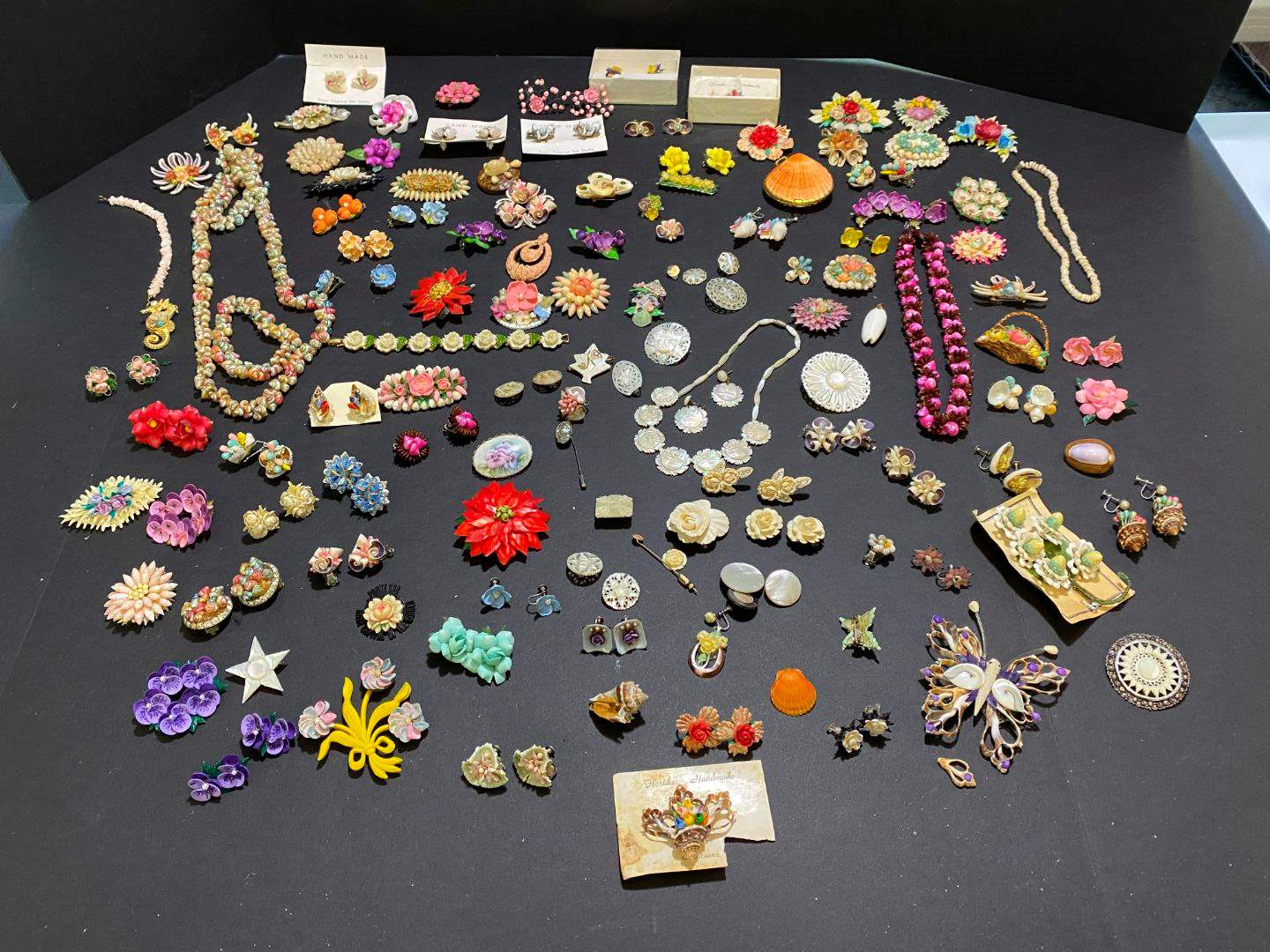 Lot # 383 - Large Selection of Shell Jewelry, Necklaces & Earrings (main image)
