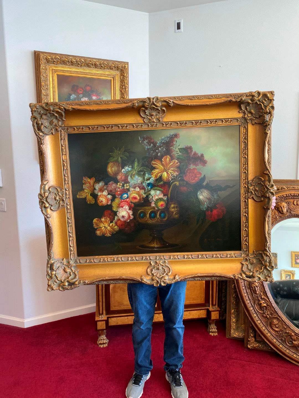 Lot # 10 - Large Beautifully Framed Original Oil on Canvas Signed Maximillion  (main image)