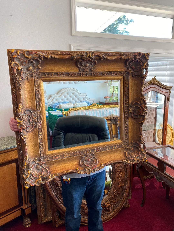 Lot # 11 - Very Elegant Wood Framed Mirror  (main image)