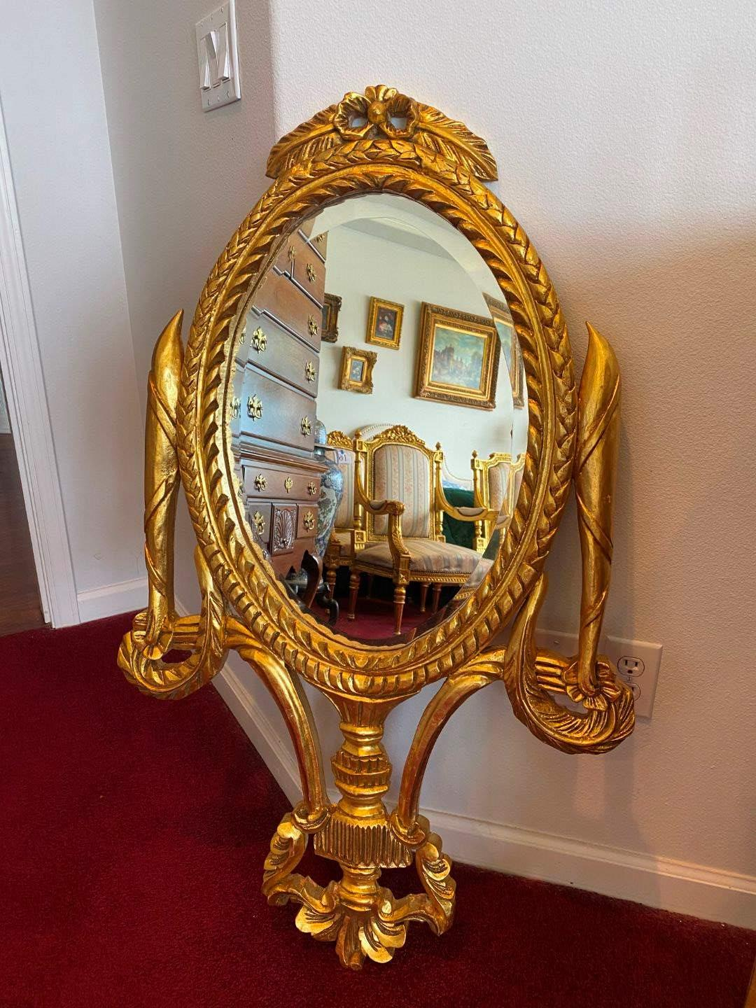 Lot # 17 - Beautiful Gold Painted French Louis XV Style Wood Framed Mirror  (main image)