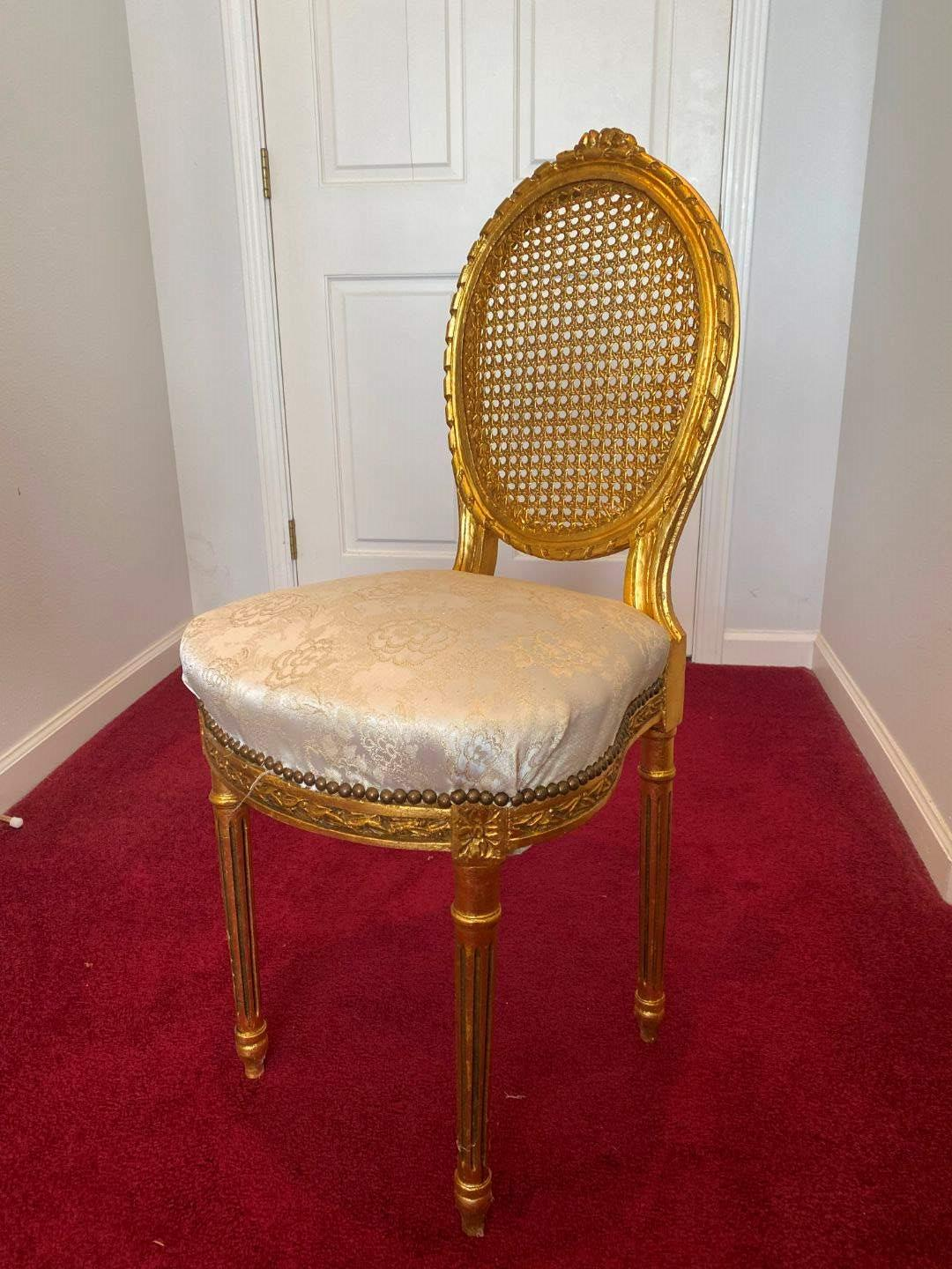 Lot # 23 - Vintage Cane Back Chair  (main image)
