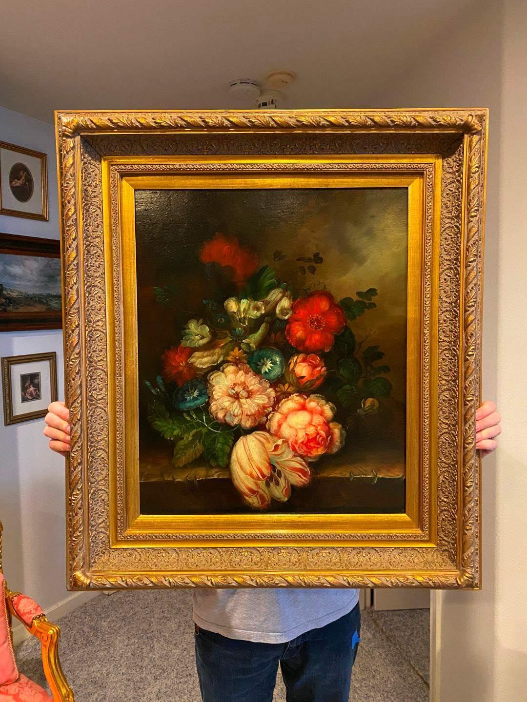 Lot # 103 - Beautifully Wood Framed Vintage/Antique Original Oil on Canvas Signed L. Kuperman? (main image)