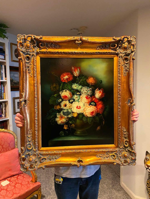 Lot # 104 - Elegant Wood Framed Original Oil on Canvas Signed A. Rinda  (main image)
