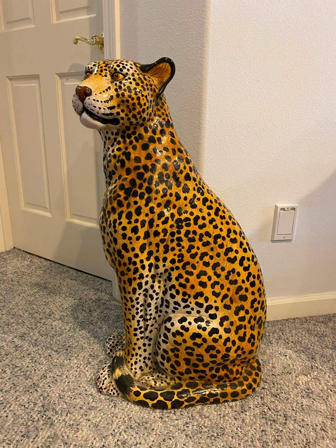 "Lot # 184 - Life Sized Cheetah - 31"" Tall  (main image)"