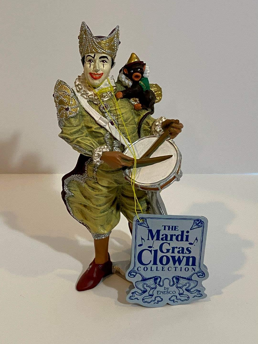 Lot # 199 - The Mardi Gras Clown Collection by Enesco  (main image)