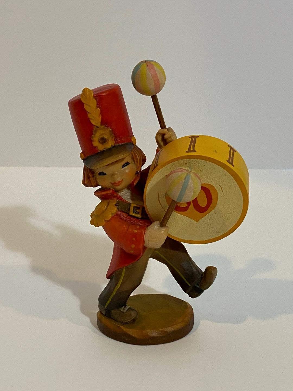 Lot # 200 - Vintage ANRI Ferrandiz Hand Carved Celebration March Drummer Boy (main image)