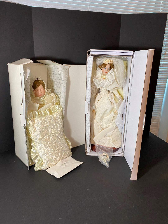 Lot # 244 - Lenox Victorian Cristening Porcelain Doll & Lenox Victorian Bride Doll (main image)