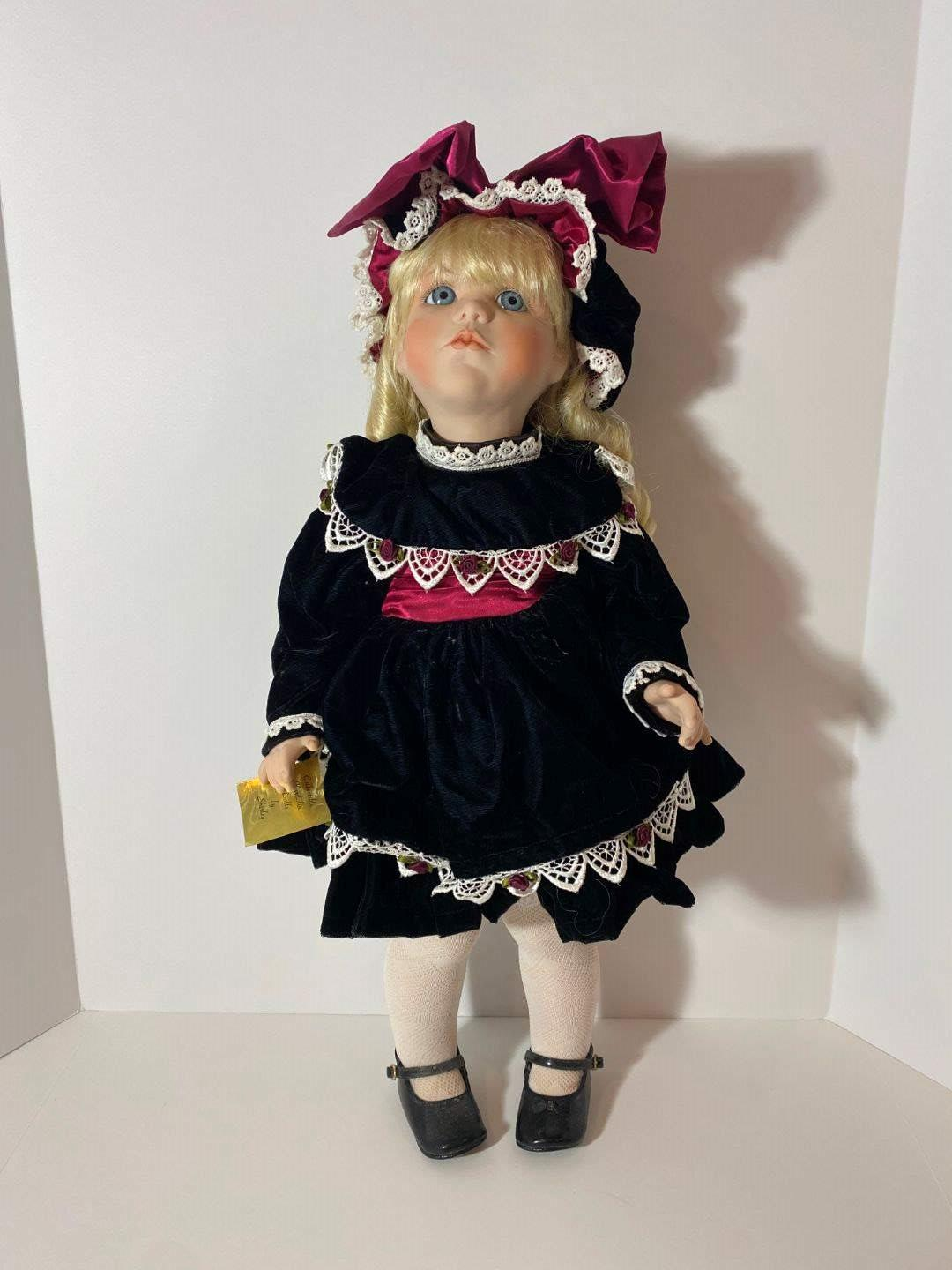"""Lot # 248 - 100% Porcelain """"Collectible Kardolin Dolls"""" by Shirley (Brittany) Signed & Numbered - #17/250 (main image)"""