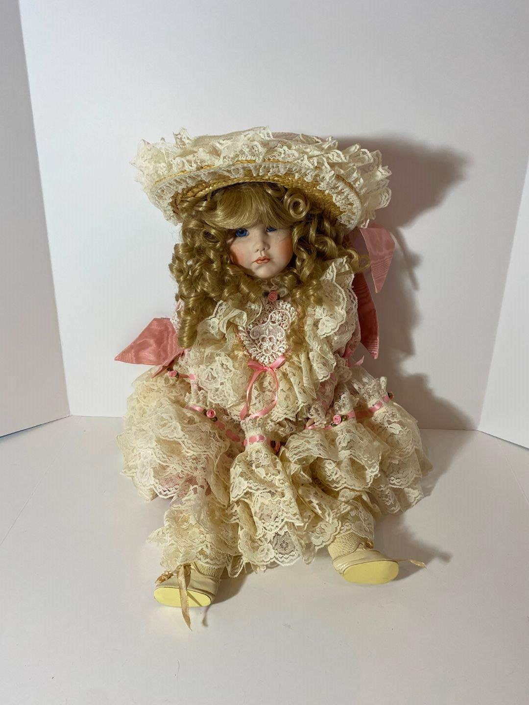 """Lot # 250 - 100% Porcelain """"Collectible Kardolin Dolls"""" by Shirley w/Articulating Joints - Signed & Numbered #29/1000 (main image)"""
