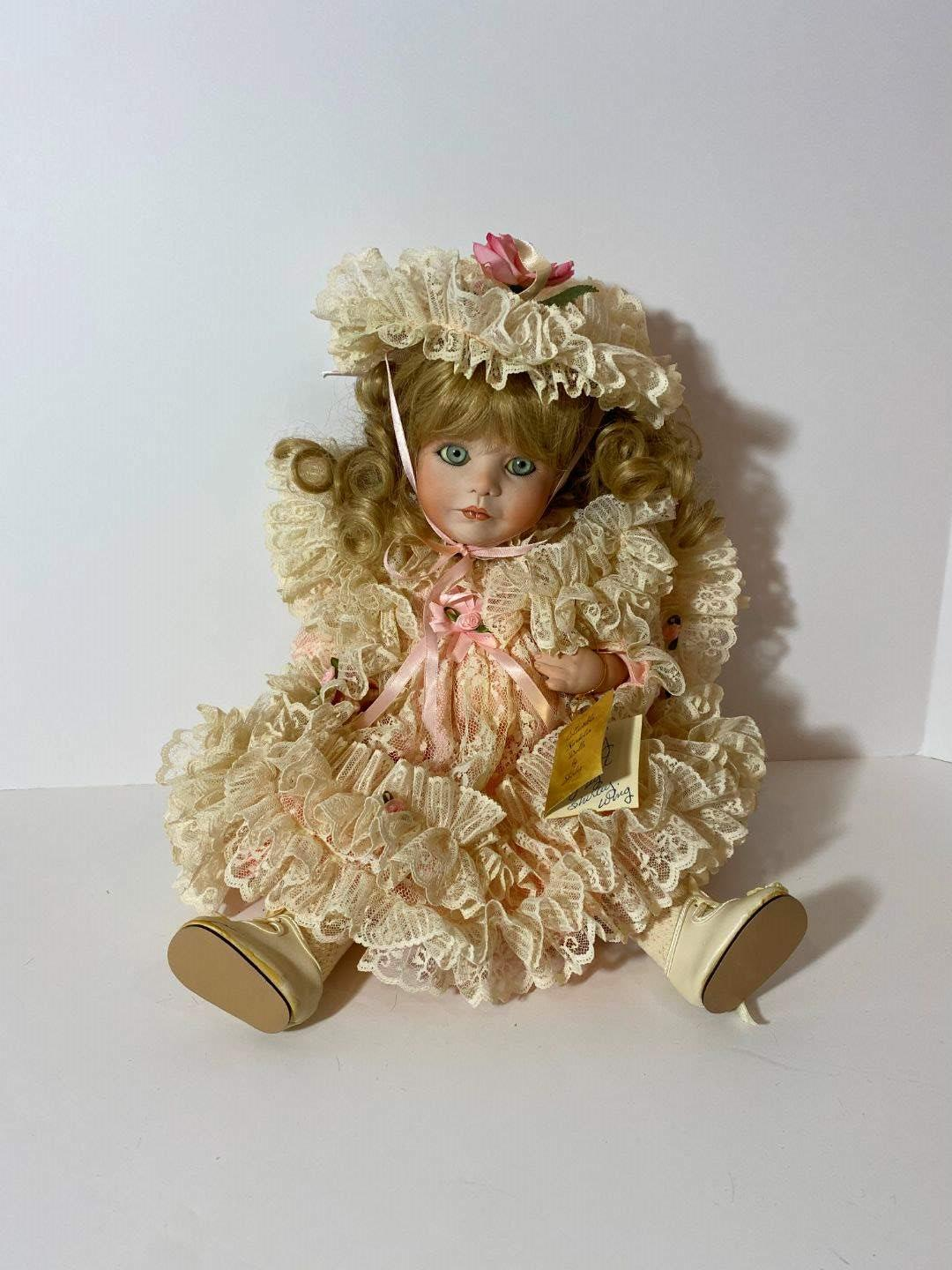 """Lot # 251 - 100% Porcelain """"Collectible Kardolin Dolls"""" by Shirley - Articulating Joints (Ashley) Signed & Numbered - #9/1000 (main image)"""