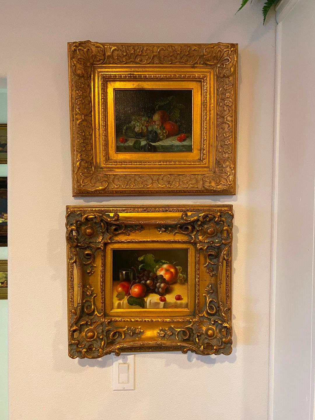 Lot # 266 - Two Gold Toned Wood Framed Signed Oil on Canvas by Jackson & Sgatos  (main image)