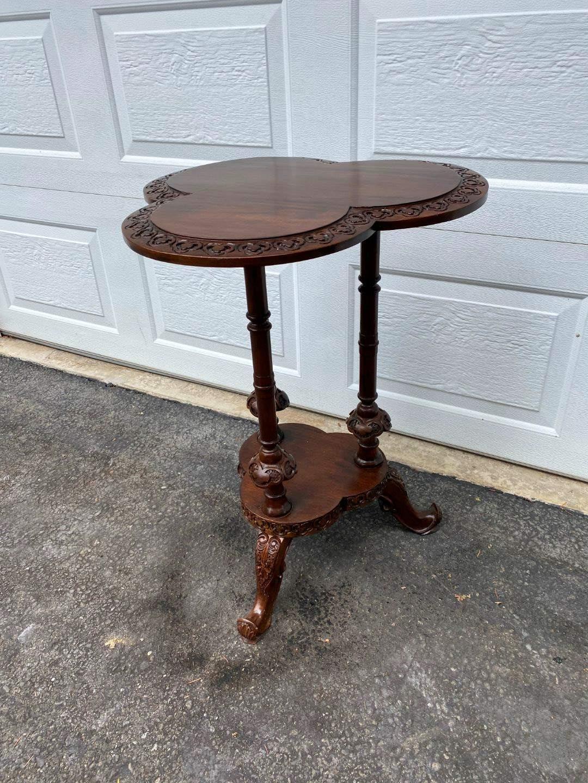 Lot # 319 - Vintage Wood Side Table  (main image)