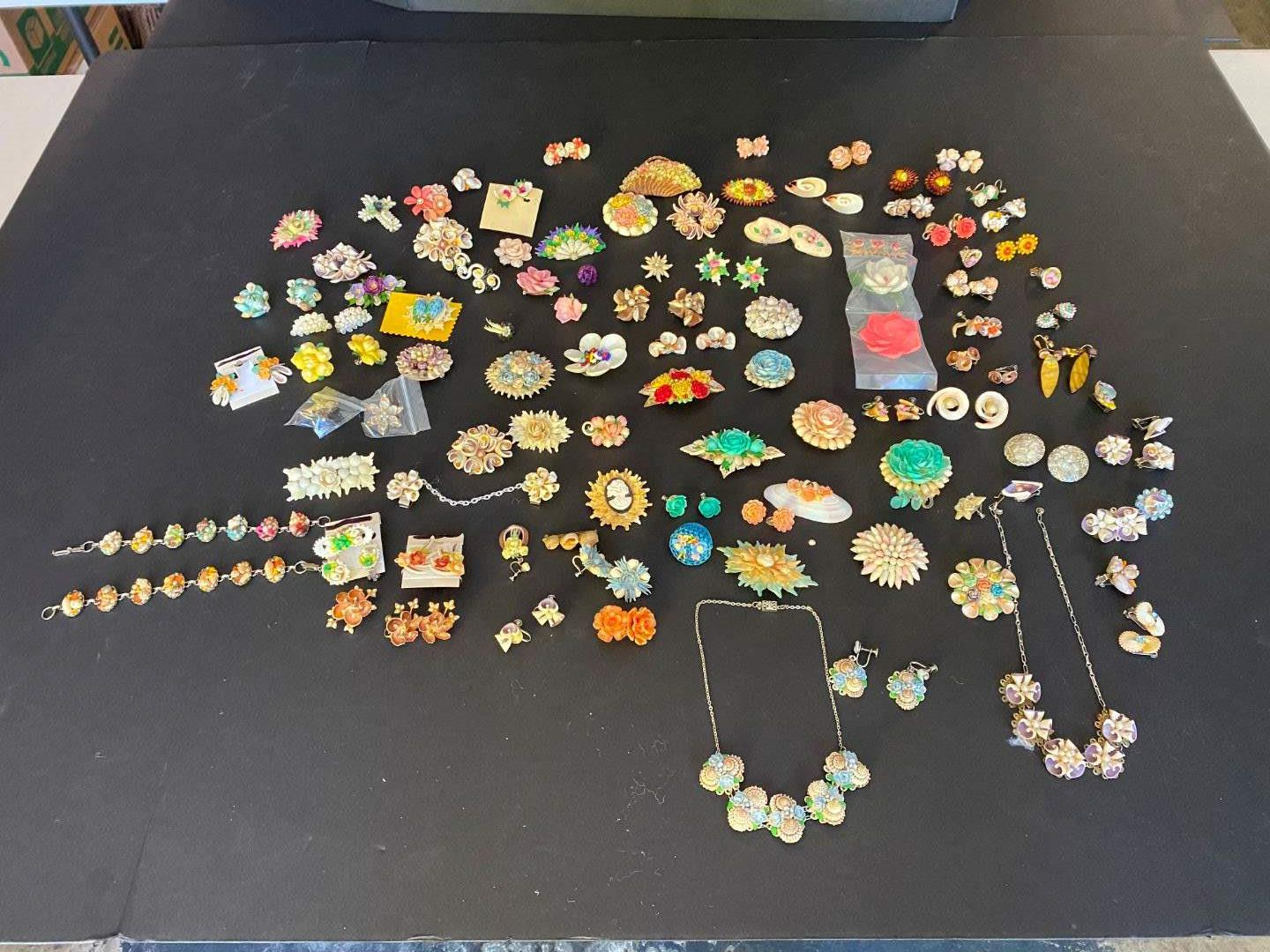 Lot # 382 - Hand Crafted Shell Earrings, Necklaces & Pins (main image)