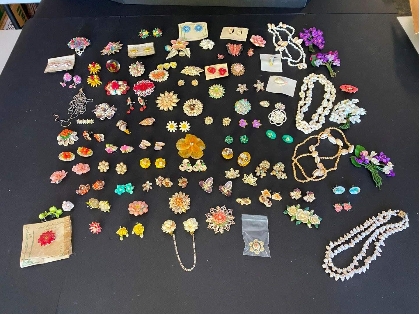 Lot # 384 - Selection of Shell Jewelry, Necklaces & Earrings (main image)