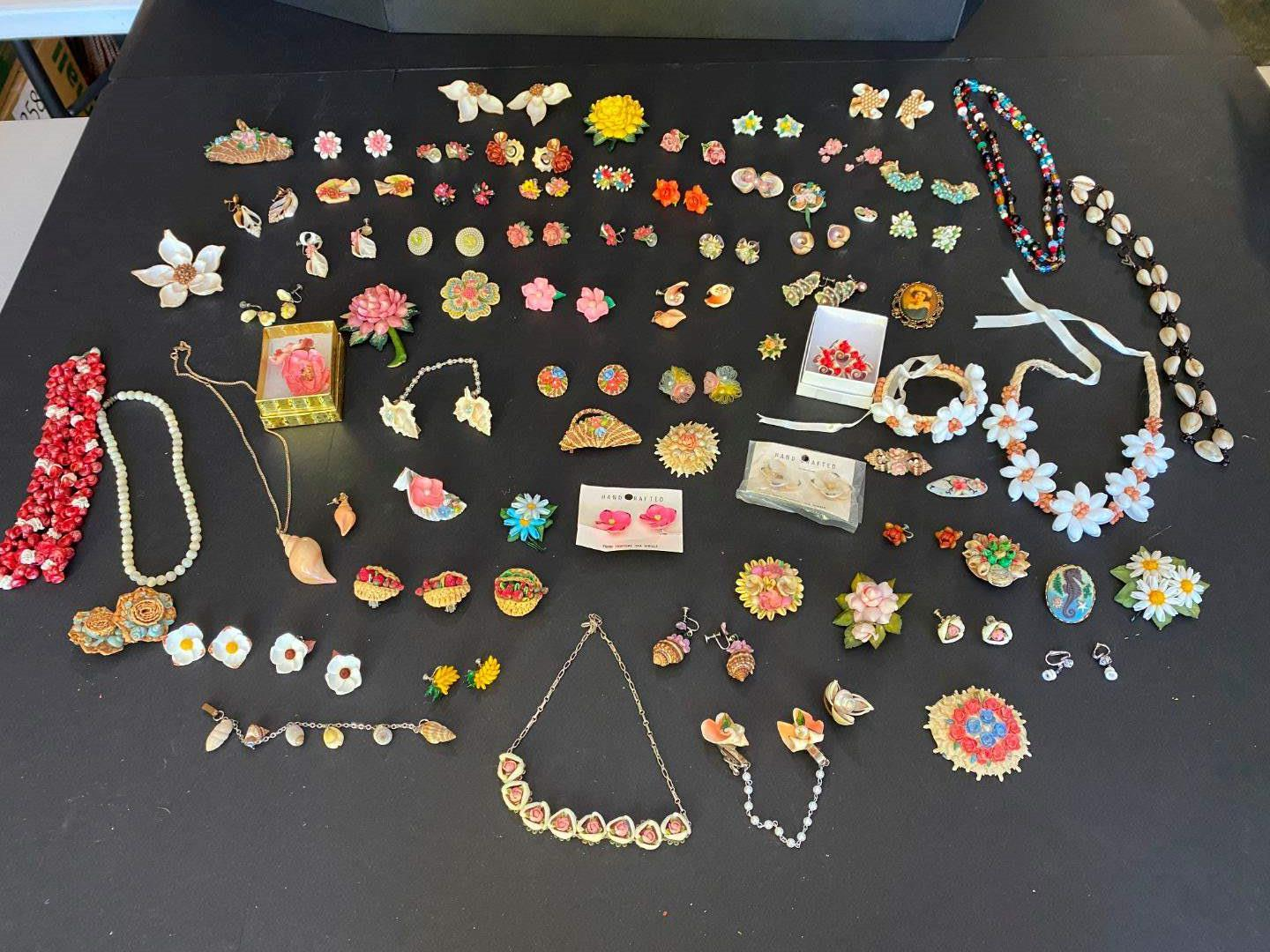 Lot # 386 - Selection of Shell Jewelry - All Handmade - Necklaces & Earrings (main image)
