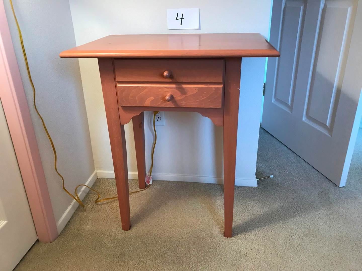 Lot # 4 - Yield House side table, 25x16.5x38hi (main image)