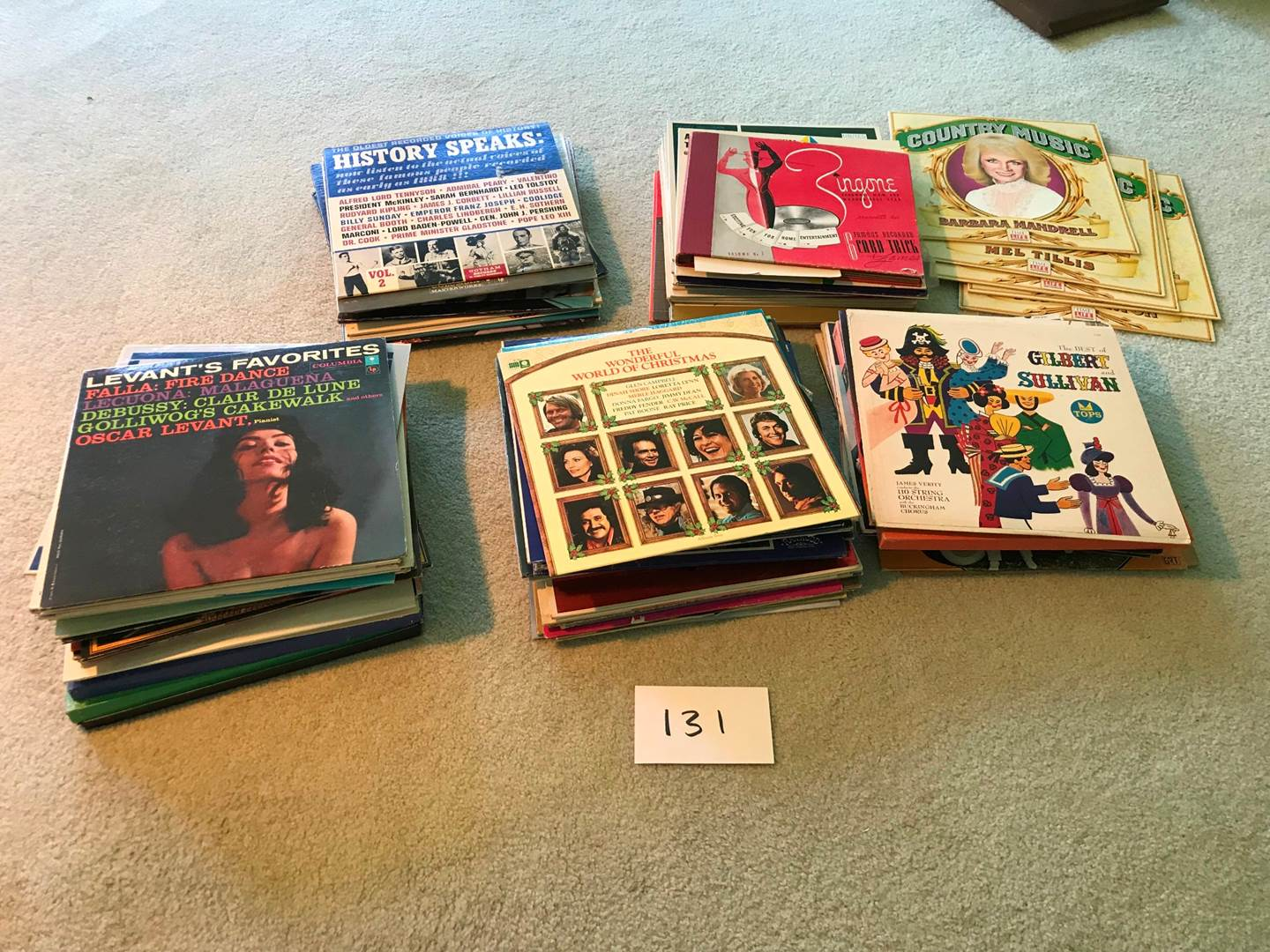 Lot # 131 - Albums: Roughly 96 count. Jerry Lewis, Kenny Rogers, Signed Foggy River Boys, more (main image)