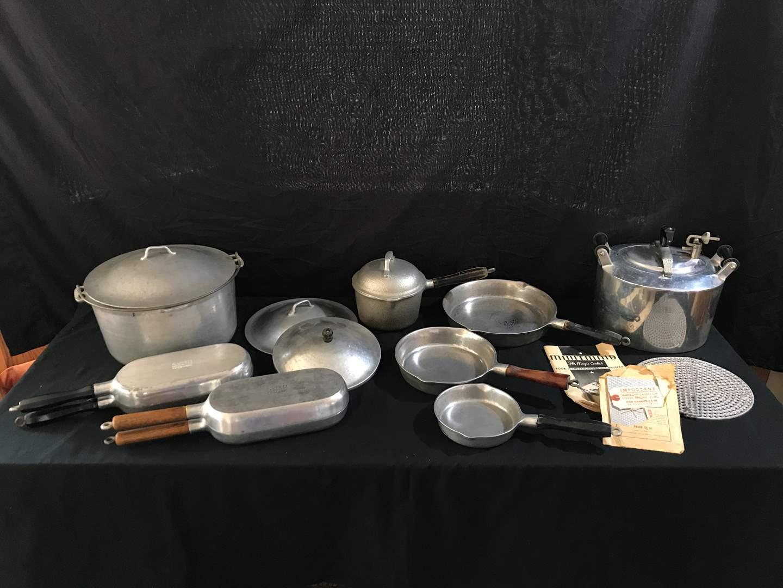 "Lot # 51 - Super Maid Cook Wear, Minitmaid ""The Magic Cooker"", Misc. Pots & Pans (main image)"