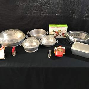 Auction Thumbnail for: Lot # 54 - Guardian Service Serving Dishes, Glass Bake Casserole Dishes, Grater, Bottle Opener & More..