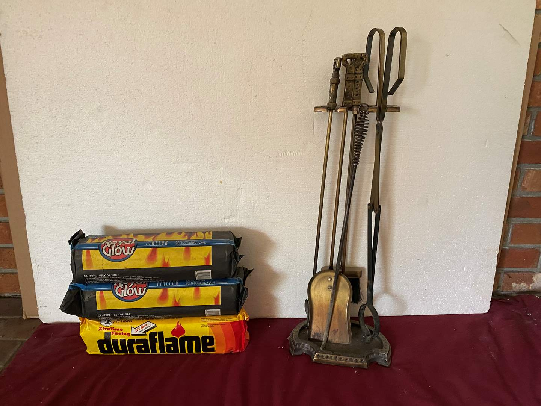 Lot # 5 - Duraflame Logs & Fireplace Tools (main image)