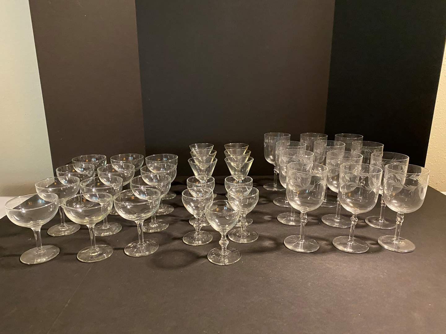 Lot # 44 - Small Collection of Crystal & Glass Stemware (main image)