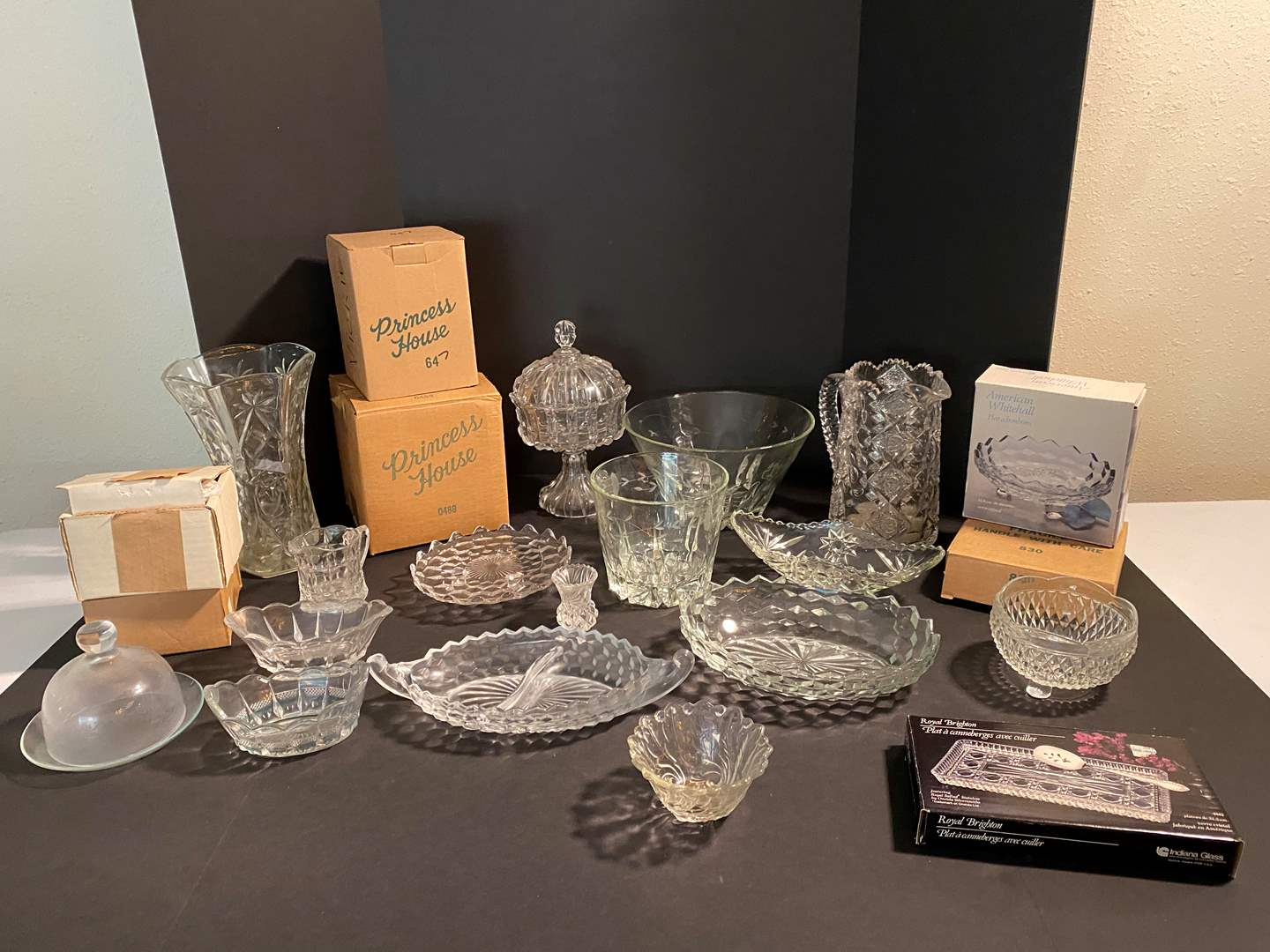 Lot # 49 - Collection of Crystal: Princess House, American Whitehall, Royal Brighton & More.. (main image)
