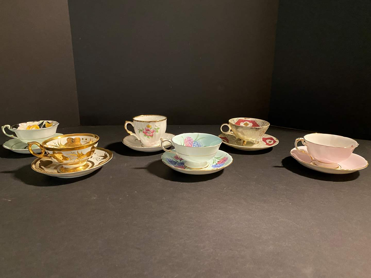 Lot # 116 - Six Teacups & Saucers - See Pictures for Brands (main image)