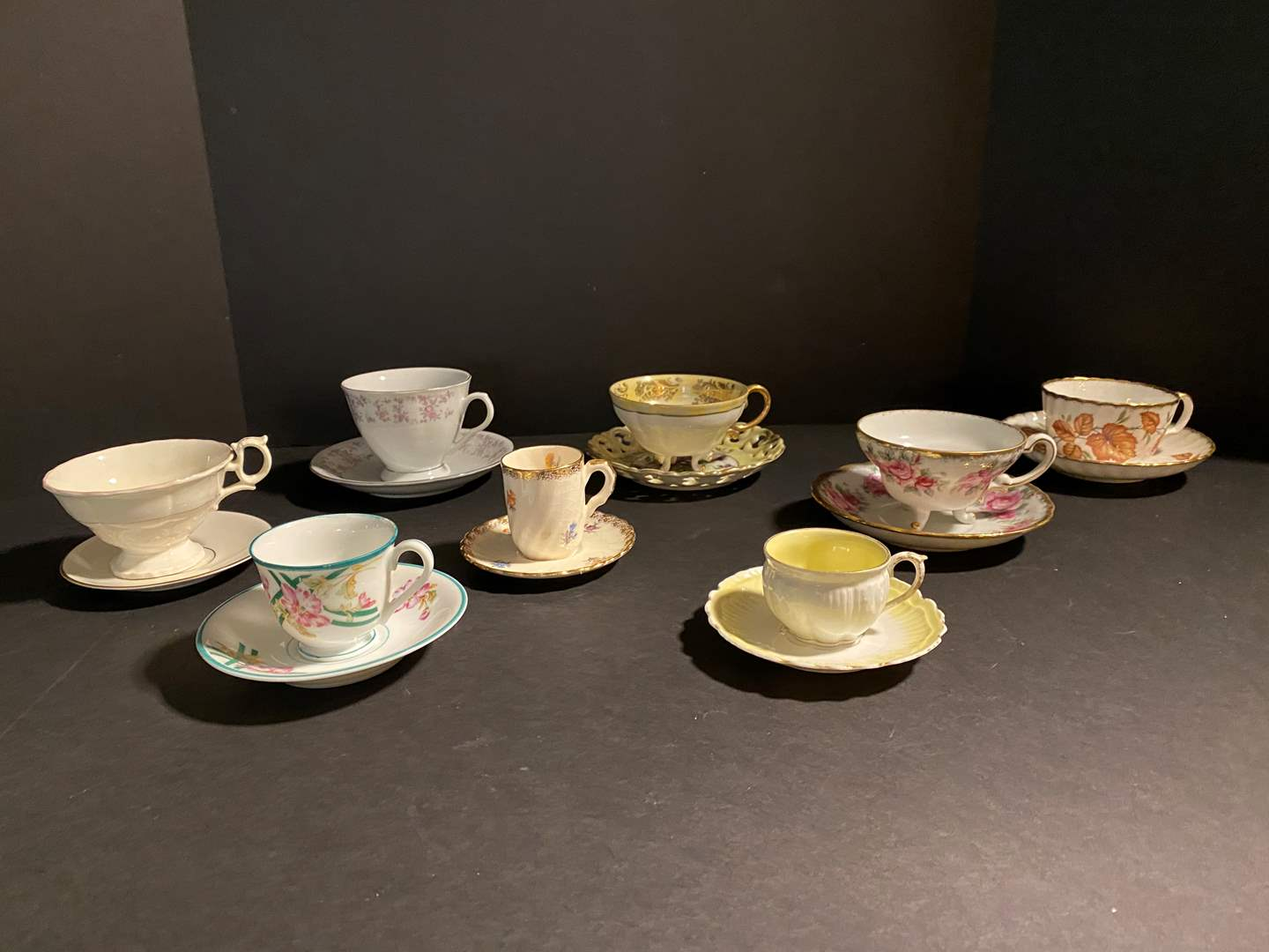 Lot # 118 - Eight Teacups & Saucers - See Pictures for Brands (main image)