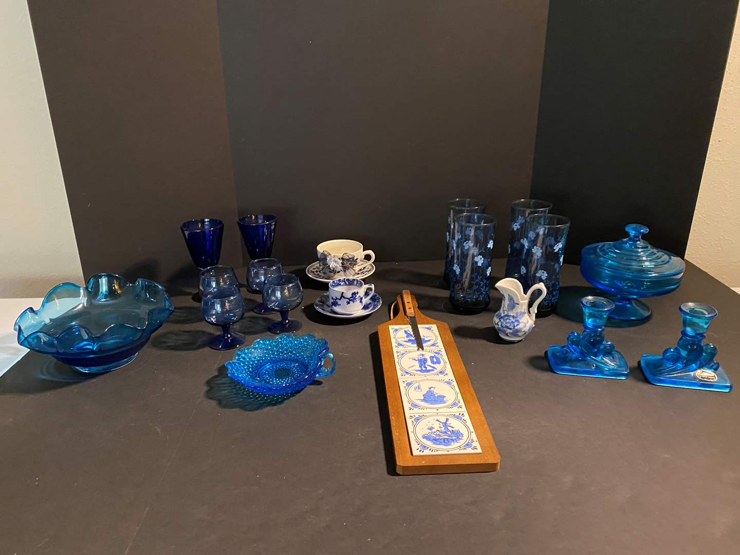Lot # 124 - Nice Collection of Vintage Colbalt Blue Glassware & More.. (main image)