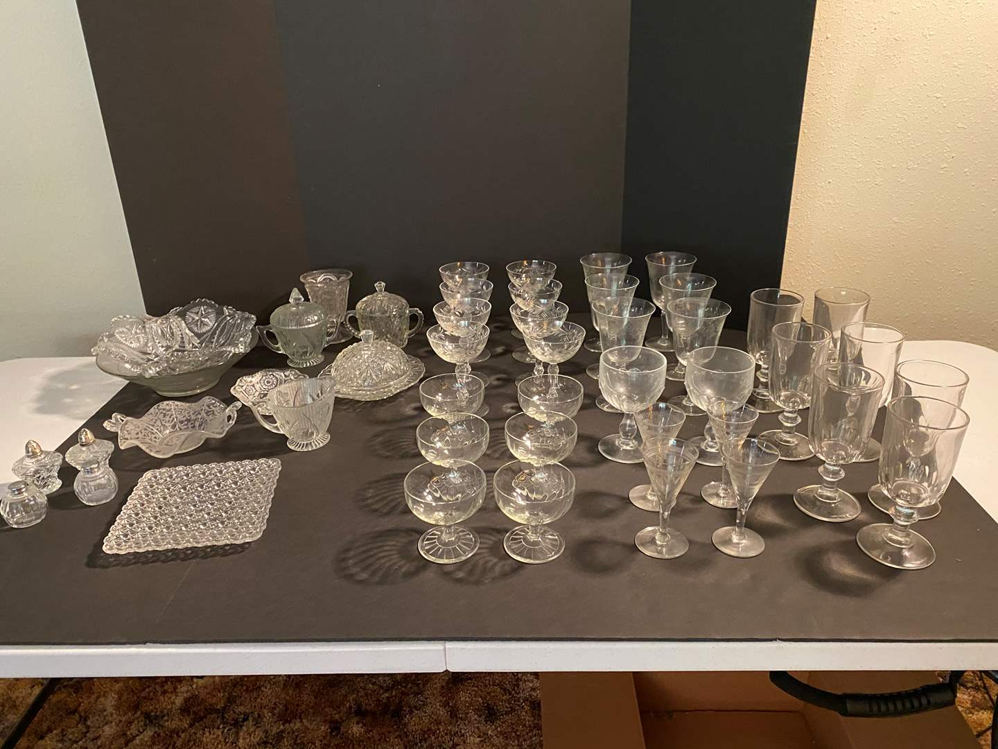 Lot # 126 - Collection of Vintage Glass & Crystal Items (main image)