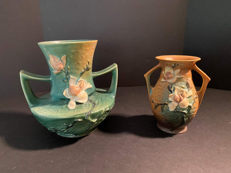 Lot # 133 - Two Vintage Roseville Vases (main image)