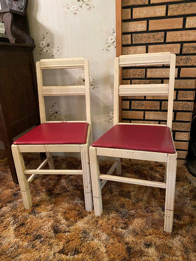 Lot # 137 - Two Antique Wood Chairs (main image)