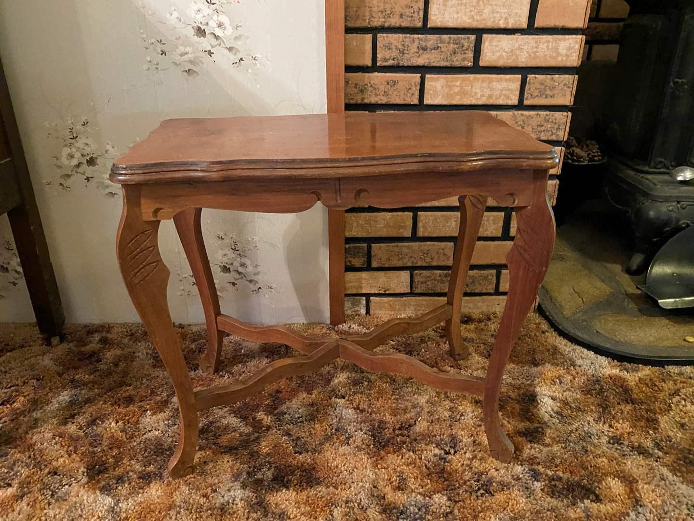 Lot # 142 - Vintage Wood Sidetable  (main image)