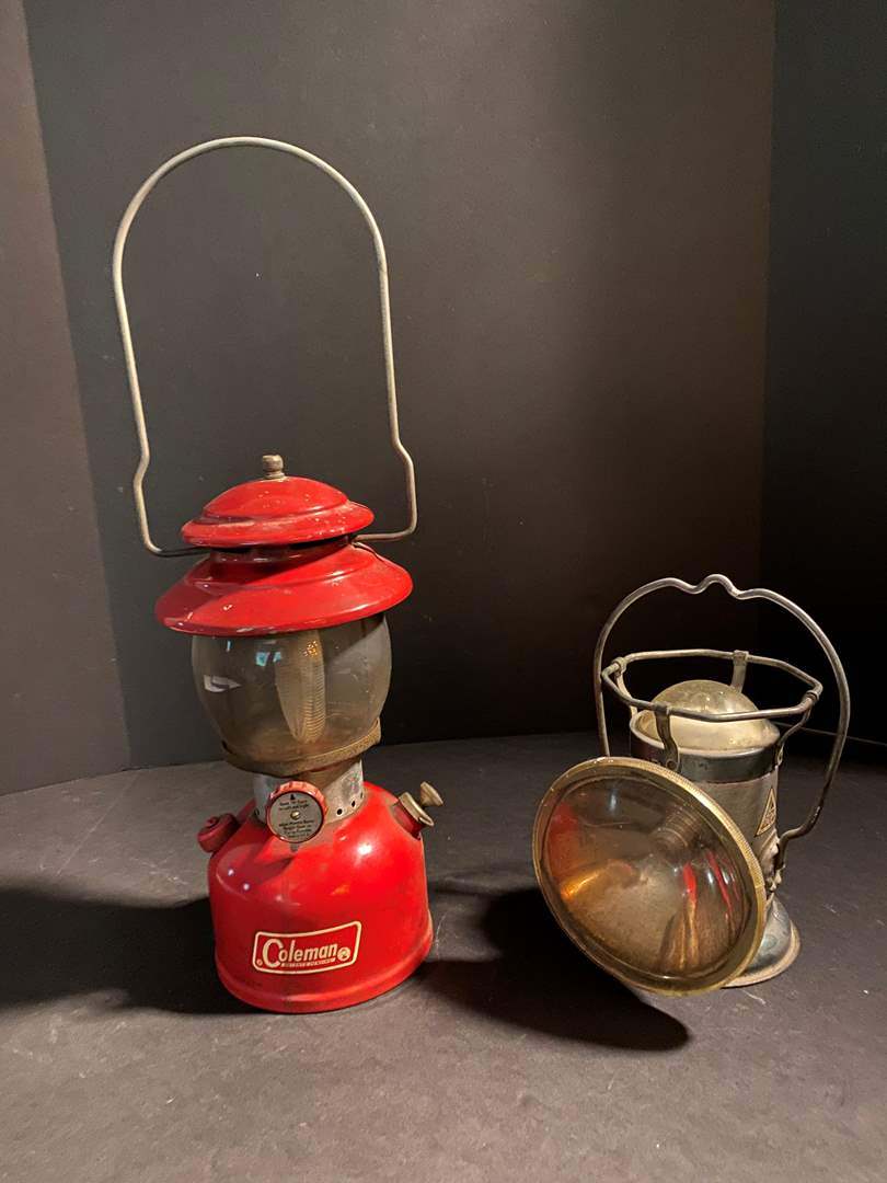 Lot # 152 - Vintage Coleman Lantern Model - 200A & Vintage Delta Electric Lantern (main image)