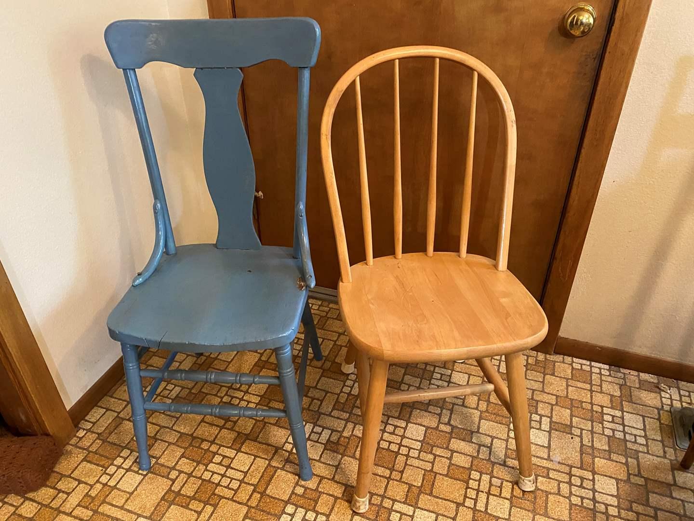 Lot # 184 - 3 Wood Chairs  (main image)